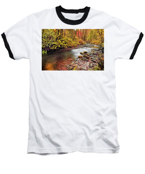 Autumn In An Oregon Rain Forest  Baseball T-Shirt