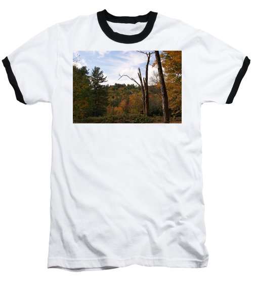 Autumn In The Hills Baseball T-Shirt by Lois Lepisto