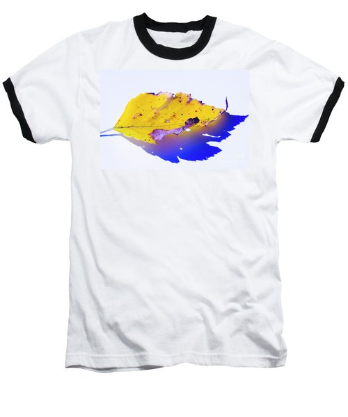 Baseball T-Shirt featuring the photograph Autumn Leaf Abstract by Yulia Kazansky