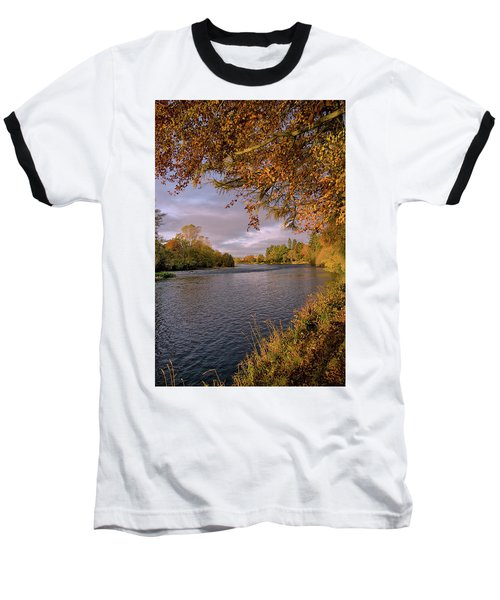 Autumn Light By The River Ness Baseball T-Shirt by Jacqi Elmslie