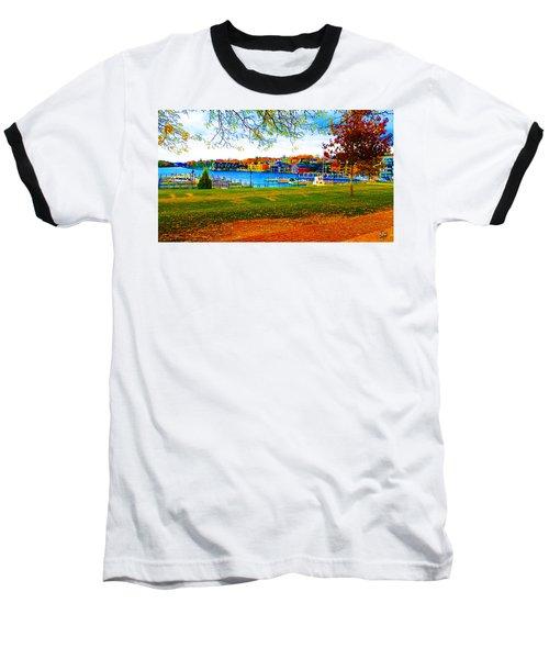 Autumn On Lake Charlevoix Baseball T-Shirt