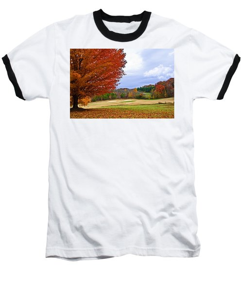 Autumn On The Golf Course Baseball T-Shirt