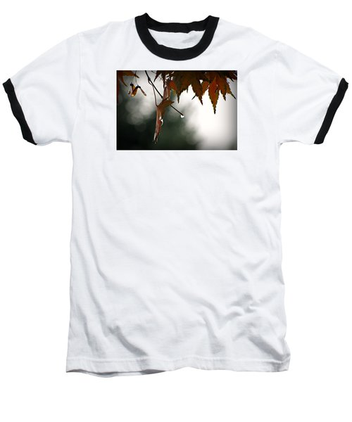 Baseball T-Shirt featuring the photograph Autumn Raindrops by Katie Wing Vigil