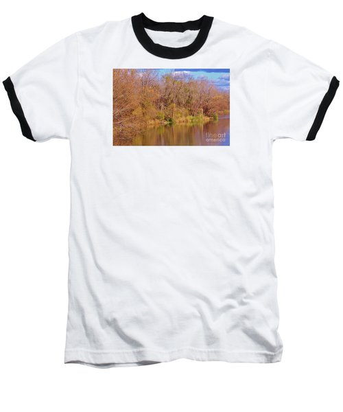 Autumn Reflections Baseball T-Shirt by Reb Frost
