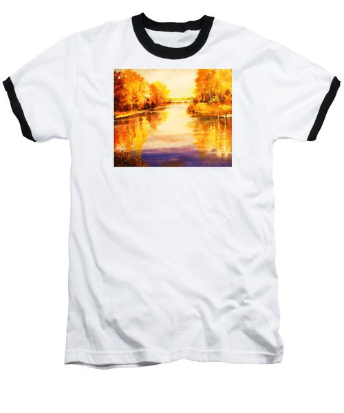 Baseball T-Shirt featuring the painting Autumn Gateway by Al Brown