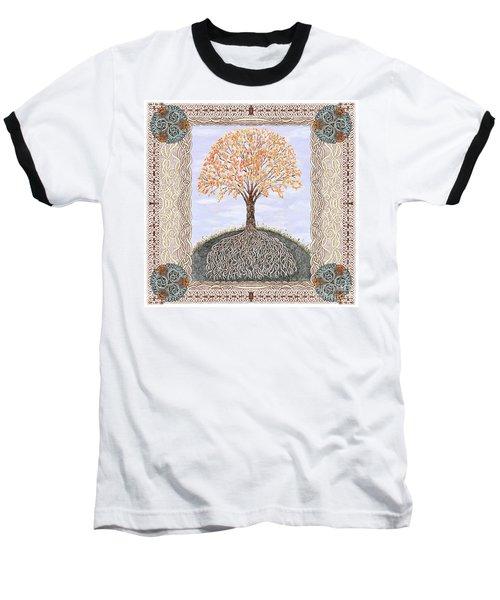 Autumn Tree Of Life Baseball T-Shirt by Lise Winne