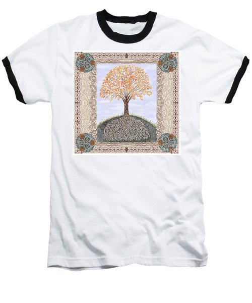 Autumn Tree Of Life Baseball T-Shirt