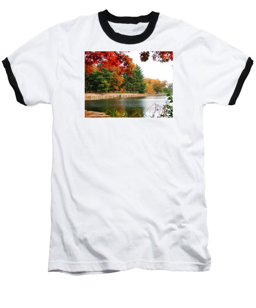 Baseball T-Shirt featuring the photograph Autumn View by Teresa Schomig
