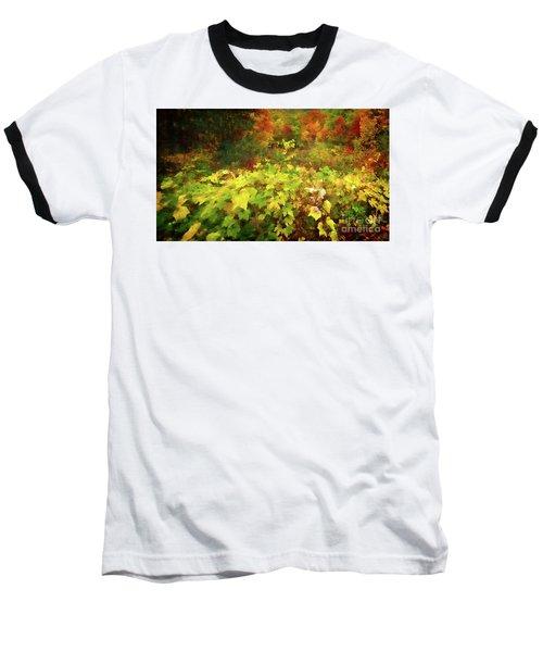Autumn Watercolor Baseball T-Shirt