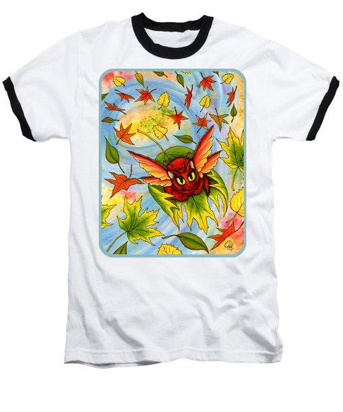Autumn Winds Fairy Cat Baseball T-Shirt