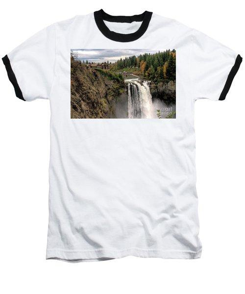 Autumnal Falls Baseball T-Shirt by Chris Anderson