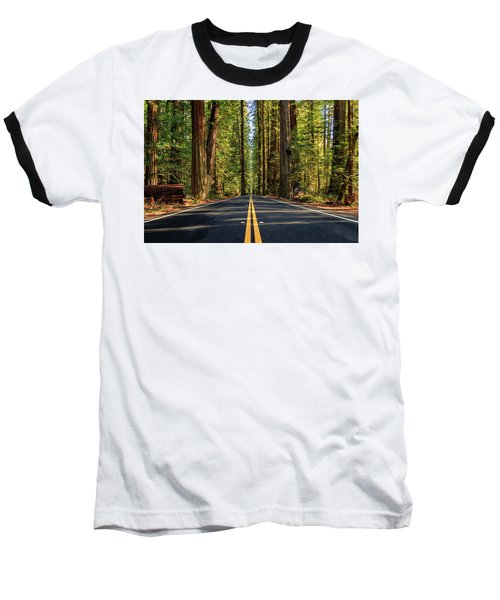 Baseball T-Shirt featuring the photograph Avenue Of The Giants by James Eddy