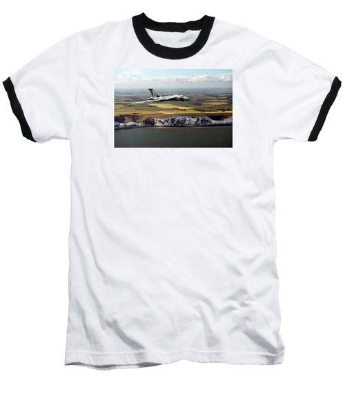 Avro Vulcan Over The White Cliffs Of Dover Baseball T-Shirt