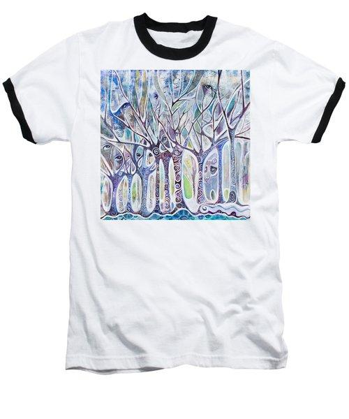 Awareness Baseball T-Shirt by Leela Payne