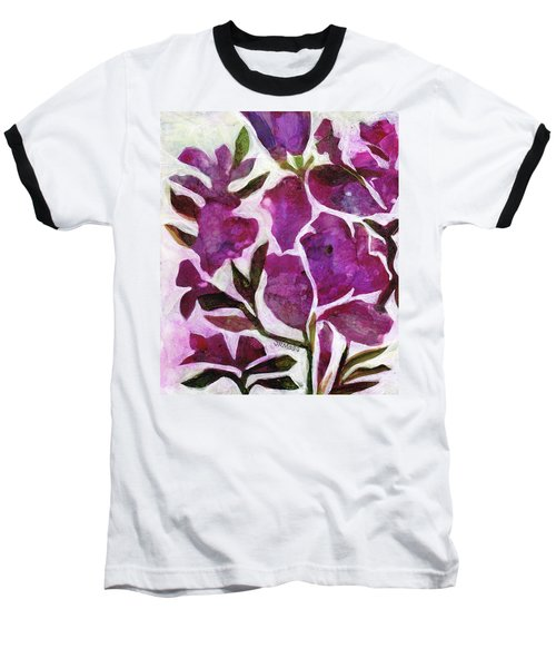 Baseball T-Shirt featuring the painting Azaleas by Julie Maas
