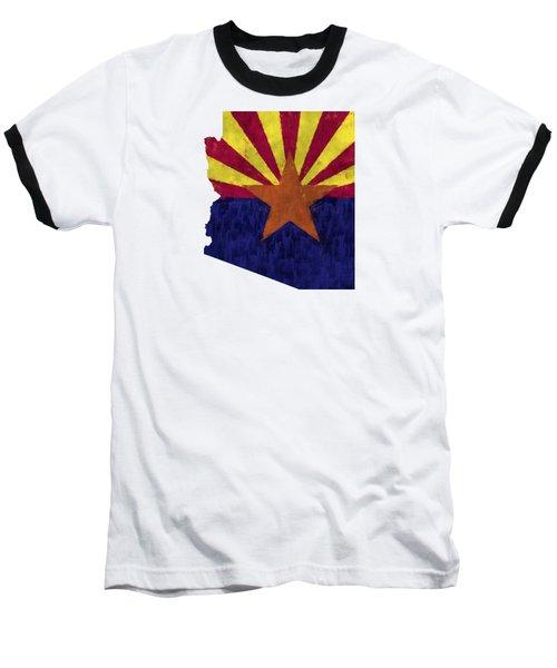Azizona Map Art With Flag Design Baseball T-Shirt