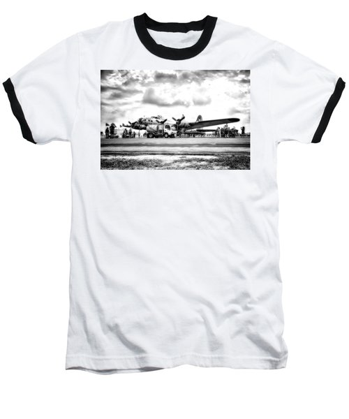 B-17 Bomber Fueling Up In Hdr Baseball T-Shirt