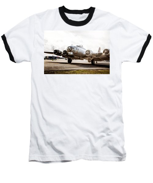 B-17 Bomber Ready For Takeoff Baseball T-Shirt