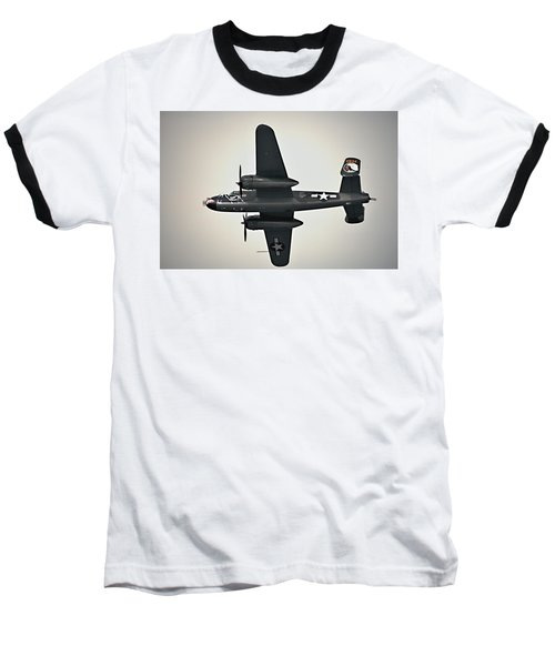 B-25 Fly By Baseball T-Shirt
