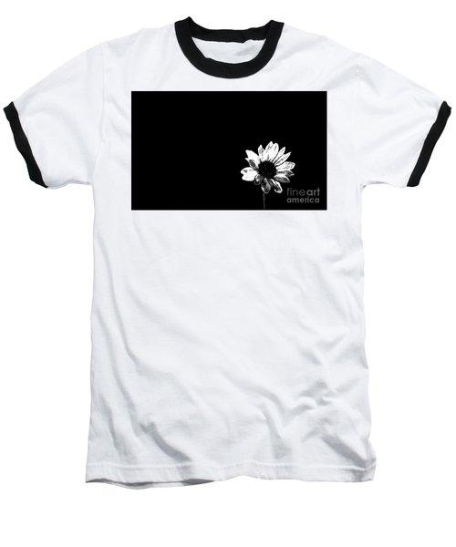 Baseball T-Shirt featuring the photograph B/w Flower  by Juls Adams