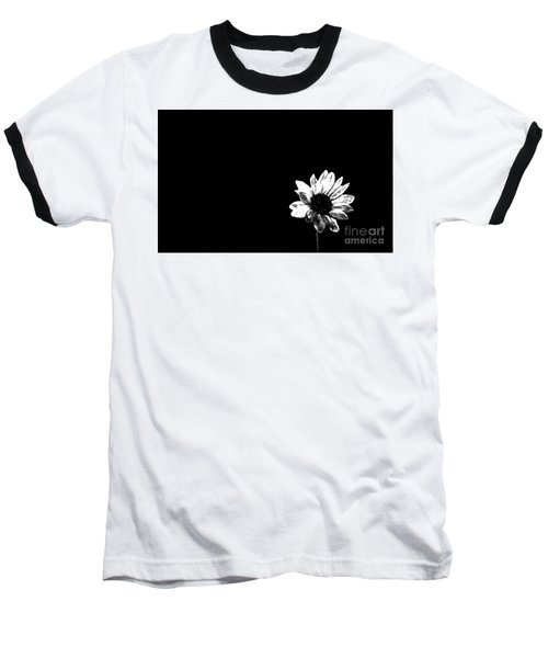 B/w Flower  Baseball T-Shirt