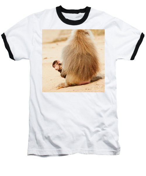Baboon With A Baby  Baseball T-Shirt