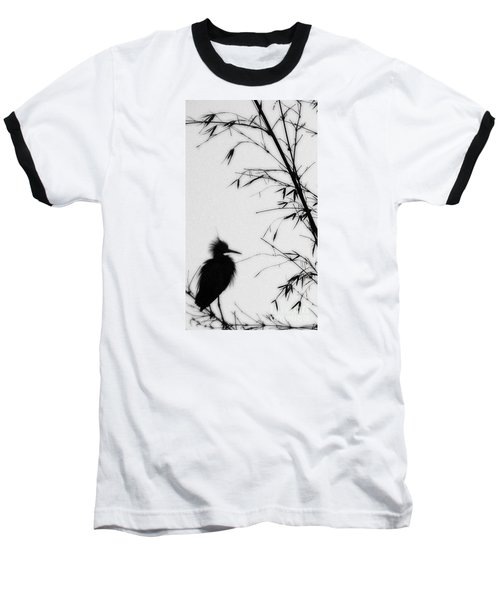 Baby Egret Waits Baseball T-Shirt
