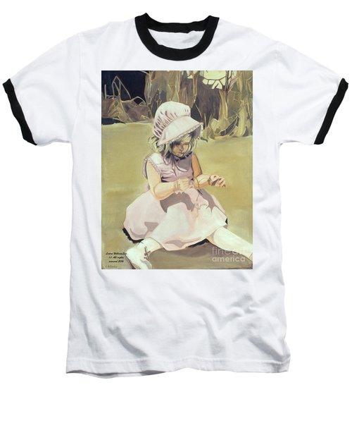 Baby Girl Discovering Baseball T-Shirt