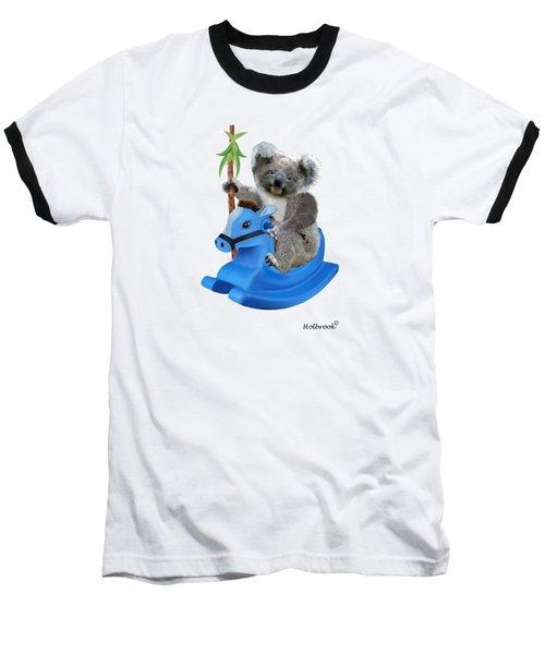 Baby Koala Buckaroo Baseball T-Shirt by Glenn Holbrook