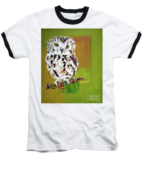 Baby Owl Baseball T-Shirt