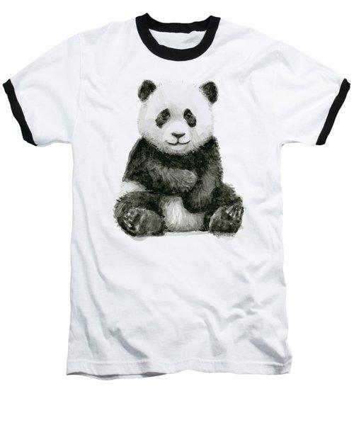 Baby Panda Watercolor Baseball T-Shirt