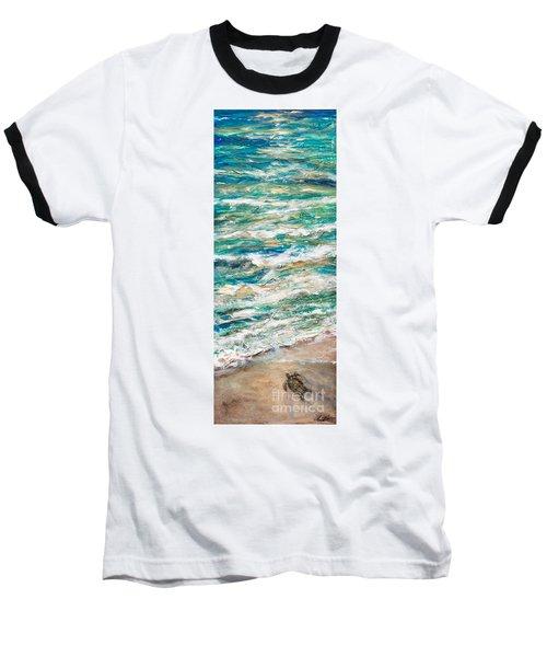 Baby Sea Turtle II Baseball T-Shirt by Linda Olsen