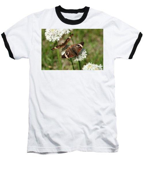Back To Back Butterflies Baseball T-Shirt by Sheila Brown