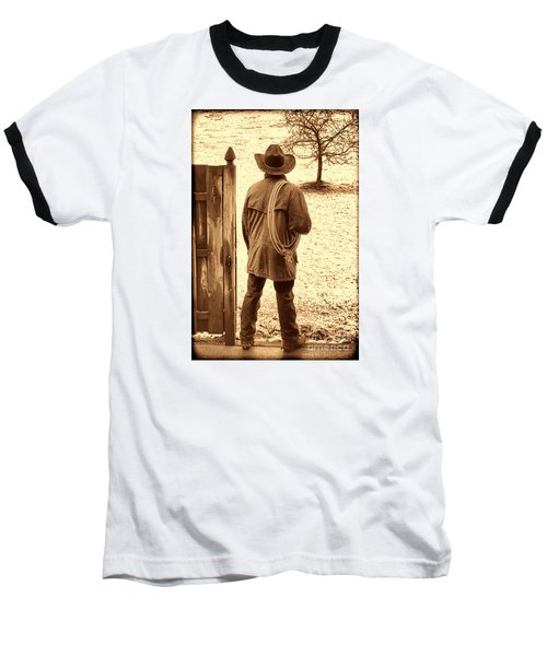 Back To Work Baseball T-Shirt by American West Legend By Olivier Le Queinec