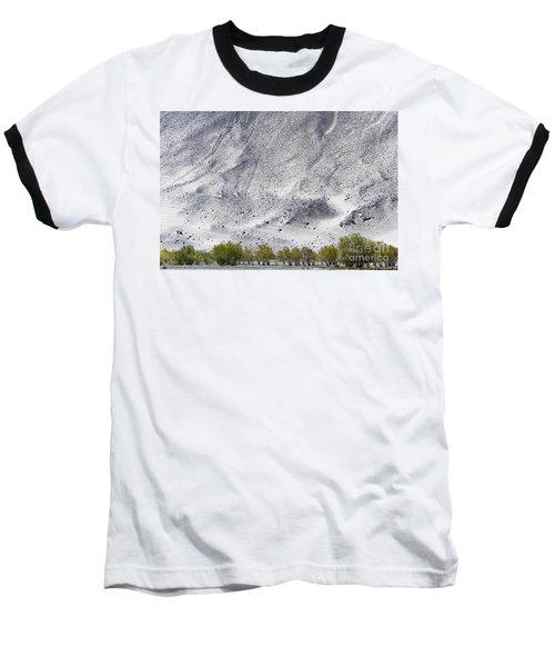 Backdrop Of Sand, Chumathang, 2006 Baseball T-Shirt by Hitendra SINKAR