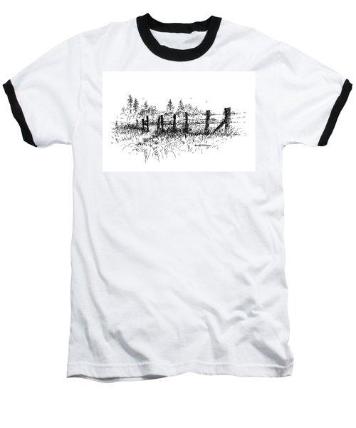 Backlit Fence Baseball T-Shirt