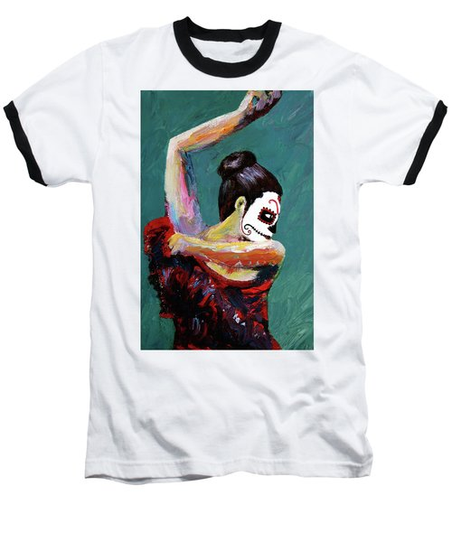 Bailan De Los Muertos Baseball T-Shirt