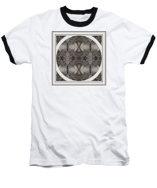 Balance Expressed In Black And White Baseball T-Shirt by Jack Dillhunt