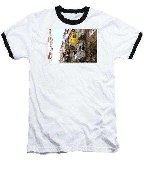 Balconies Of Valletta 1 Baseball T-Shirt