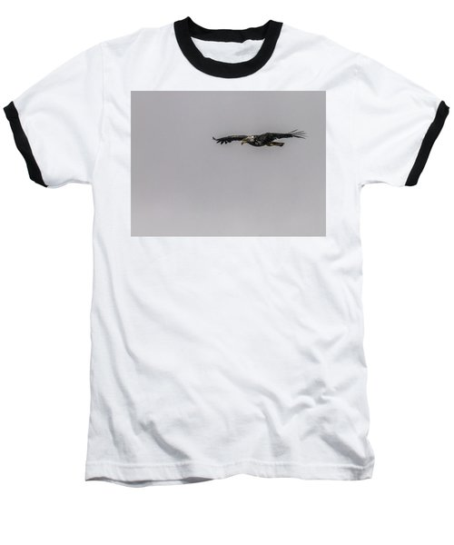 Baseball T-Shirt featuring the photograph Bald Eagle Gliding by Timothy Latta