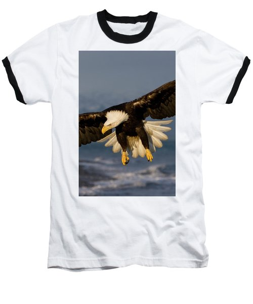 Bald Eagle In Action Baseball T-Shirt