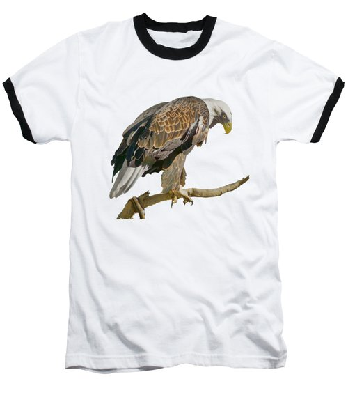 Baseball T-Shirt featuring the photograph Bald Eagle - Transparent by Nikolyn McDonald