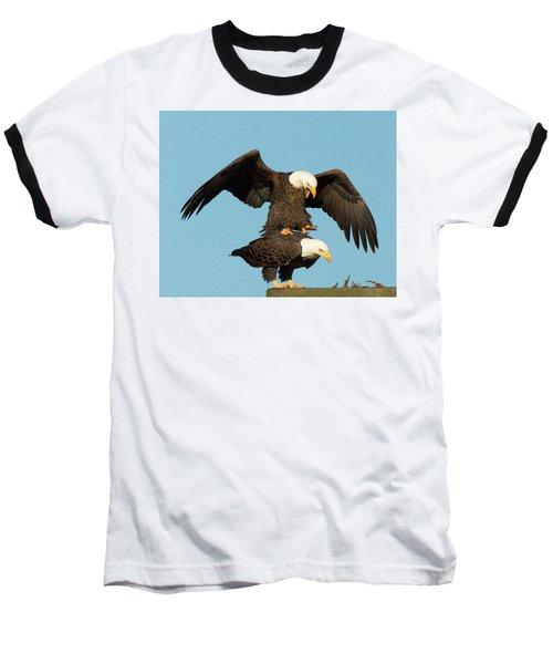 Bald Eagles Mating Baseball T-Shirt