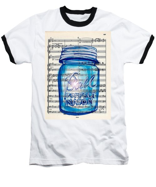 Baseball T-Shirt featuring the painting Ball Mason Jar Classical #168 by Ecinja
