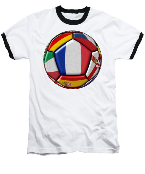 Ball With Flag Of France In The Center Baseball T-Shirt by Michal Boubin