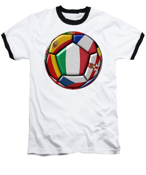Ball With Flag Of Italy In The Center Baseball T-Shirt by Michal Boubin