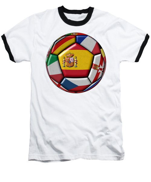 Ball With Flag Of Spain In The Center Baseball T-Shirt by Michal Boubin