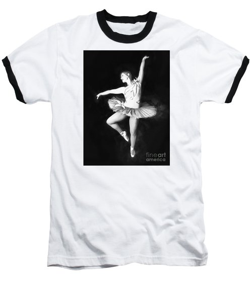 Baseball T-Shirt featuring the photograph Ballerina  No. 2   ... by Chuck Caramella