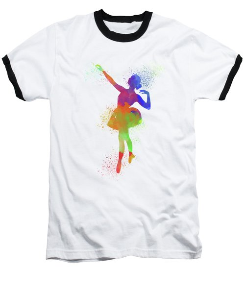 Ballet Watercolor 1 Baseball T-Shirt