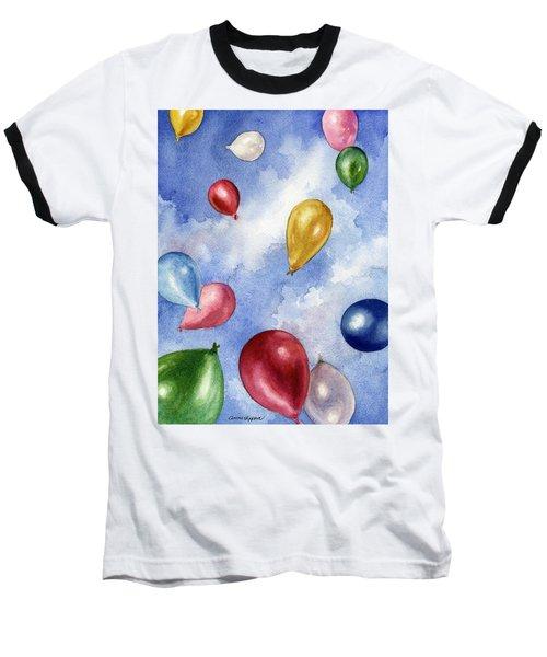 Balloons In Flight Baseball T-Shirt